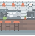 Background of coffee house vector image