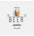 Beer festival badges logos and labels for any use vector image vector image