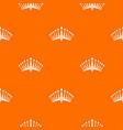 big crown pattern seamless vector image vector image