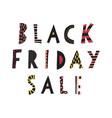 black friday sale doodle banner kids vector image vector image