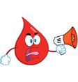 Blood drop cartoon vector image vector image
