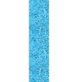 blue field floral texture vertical border seamless vector image vector image