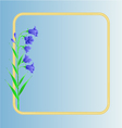 Bluebell campanula meadow spring flower vector image