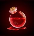 broken magic bottle vector image