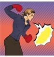 business woman boxing in vector image