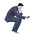 Businessman with smart phone template vector image vector image