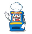 chef slot machine isolated in character vector image vector image