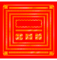 Chinese style Gold border decoration element for vector image vector image