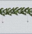 christmas ornament from the green branches of a vector image vector image