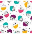 colorful seamless pattern with brush dots vector image
