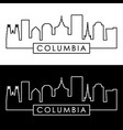 columbia skyline linear style editable file vector image vector image