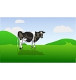 cow on a green field vector image vector image
