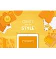 Creative background in orange style vector image