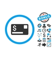Credit Card Flat Icon with Bonus vector image