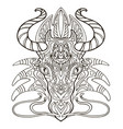 dragon coloring vector image