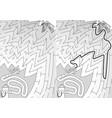 easy firefighting maze vector image