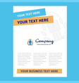 employee title page design for company profile vector image vector image