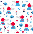 fairytale cute seamless pattern vector image vector image