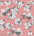 floral seamless pattern with bougainvillea flowers vector image