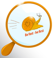Funny fast snail vector image