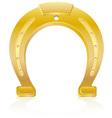 gold horseshoe talisman charm vector image vector image