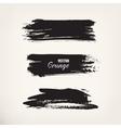Grunge black ink stroke vector image vector image