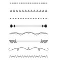 hand drawn dividers vector image vector image
