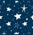hand drawn stars pattern vector image vector image