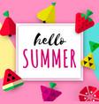 hello summer seasonal banner vector image
