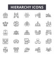 hierarchy line icons signs set outline vector image vector image