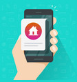 home house info notice online message on mobile vector image vector image