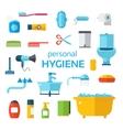 Hygiene icons set isolated on white vector image