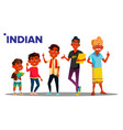 indian generation male set people person vector image vector image