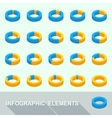 Infographic elements - circle diagrams vector image vector image
