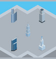 isometric construction set of cityscape exterior vector image vector image
