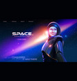 lady astronaut in a spacesuit