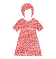 lady figure fabric textured icon vector image