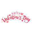 lettering for valentines day vector image