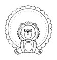 lion cartoon design vector image vector image