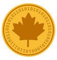 maple leaf digital coin vector image vector image