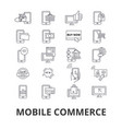 mobile commerce shopping online retail sell vector image vector image