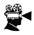 movie maker producer director vector image