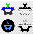 plumbery service eps icon with contour vector image