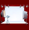 professional photo session studio concept banner vector image