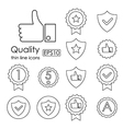 Quality control related thin line icons vector image vector image