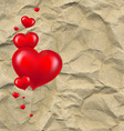 Red Hearts With Paper vector image vector image