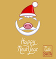 santa claus hat piggy nose beard and mustache vector image
