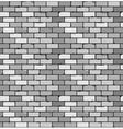 Seamless pattern of gray brick with cracks and vector image