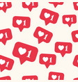 seamless pattern with bright red social vector image vector image
