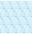 seamless pattern with icons construction items vector image vector image